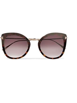 ac1bb2a83c4 Tom Ford Cat-eye Tortoiseshell Acetate And Gold-tone Sunglasses - one size
