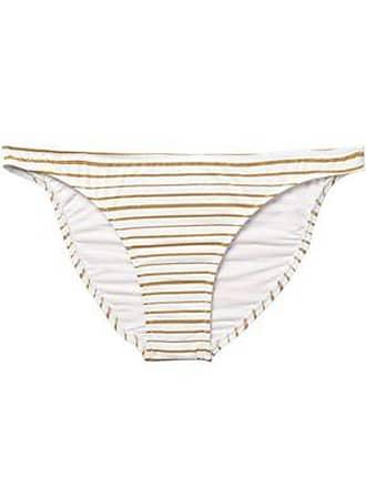 7fb5b3e712 Melissa Odabash Melissa Odabash Woman Aruba Metallic Striped Mid-rise Bikini  Briefs White Size 12
