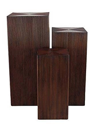 UMA Enterprises Inc. Deco 79 90621 Pedestal, Brown