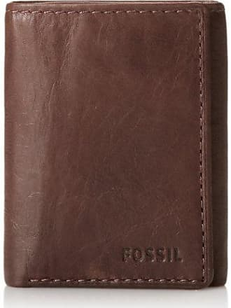 Fossil Ingram Extra Capacity Trifold Mens Wallet Brown