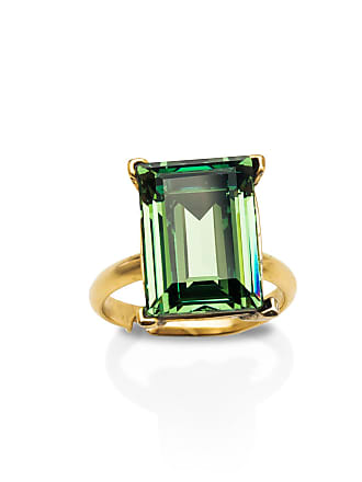 Sequin Erinite Green Emerald-cut Gem Ring