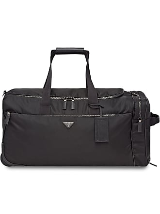 78c84388fe8 Prada Nylon and Saffiano leather wheeled carry-on - Black