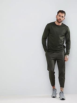 Asos ASOS Grön retro träningsoverall sweatshirt smala korta joggingbyxor -  Ängsgrön 2b65a3725f25d