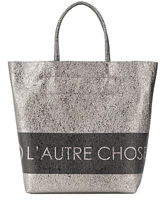 L'autre Chose logo shopping bag - Metallic
