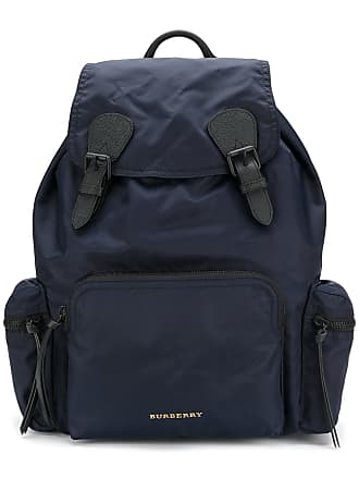 39e96420bc4 Burberry The Large Rucksack in Technical Nylon and Leather - Blue