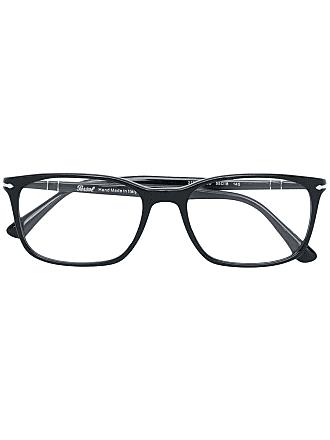 Persol Armação de óculos retangular - Preto