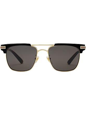 07c07172db876 Gucci Óculos de sol quadrado - Metálico
