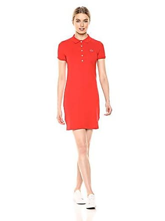 Lacoste Womens Classic Short Sleeve Stretch Mini Pique Polo Dress, SALVIA, 12