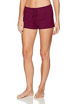 PJ Salvage Womens Lily Leisuree Shorts, Burgundy, M