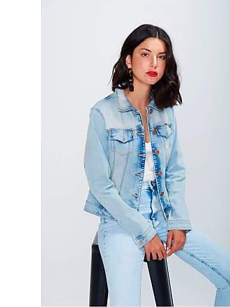 Damyller Jaqueta Jeans Trucker Feminina Tam: GG/Cor: BLUE