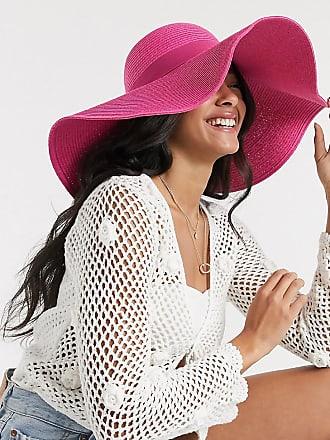South Beach Esclusiva South Beach - Cappello di paglia oversize rosa acceso