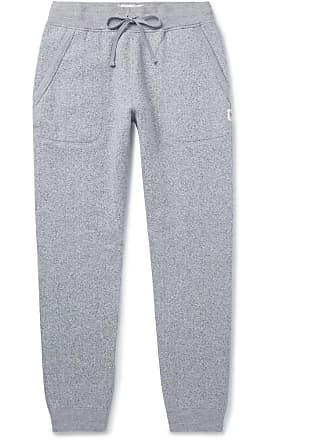 Reigning Champ Slim-fit Tapered Fleece-back Mélange Cotton-blend Jersey Sweatpants - Gray