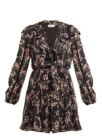 Zimmermann Fleeting Flounce Mini Dress - Womens - Black Print
