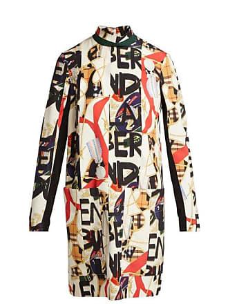 Burberry Robe en soie mélangée imprimés foulard et graffiti 3b93f28fc7a