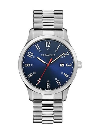 Zales Mens Caravelle by Bulova Expansion Watch with Blue Dial (Model: 43B161)