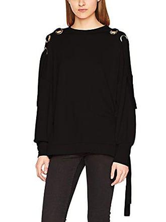 5bc76dbafe8341 Only Damen onlEISHA L/S Oversize SWT Sweatshirt, Schwarz Black, 36  (Herstellergröße