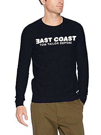 Tom Tailor Herren Pullover modern Sweater with Wording b231709ef1