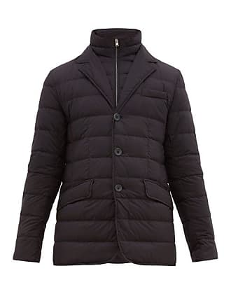Herno La Giacca Quilted Down Jacket - Mens - Navy
