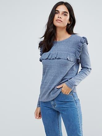 Vila Ruffle Sweater - Blue