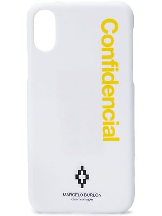 Marcelo Burlon Confidential logo iPhone X case - Branco