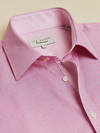 Ted Baker Geo Cotton Endurance Shirt in Light Pink SOYBEAN, Mens Clothing