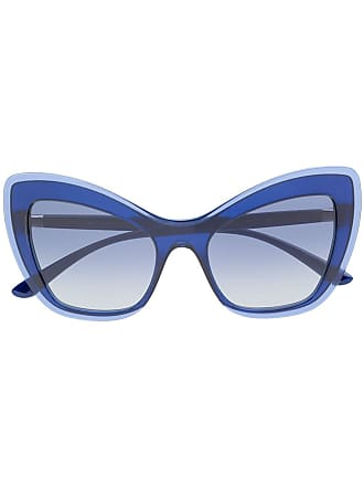 69e761e27fc1b Dolce   Gabbana Eyewear Óculos de sol gatinho oversized - Azul