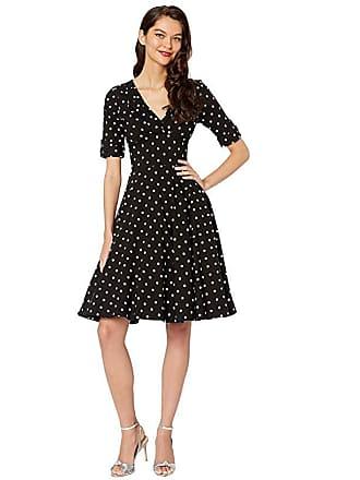 Unique Vintage Delores Dress (Black/White) Womens Dress