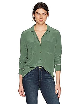 Equipment Womens Sonny Pj Top, Bottle Green S