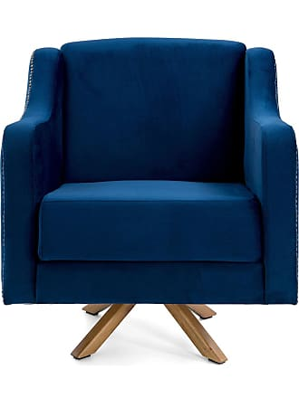 Domi Poltrona Clara Azul Domi Mobilia