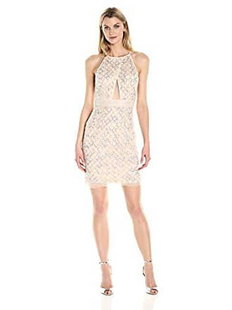 5cf440a3c6c8d Aidan Mattox Womens Beaded Cocktail Dress with Cut Out