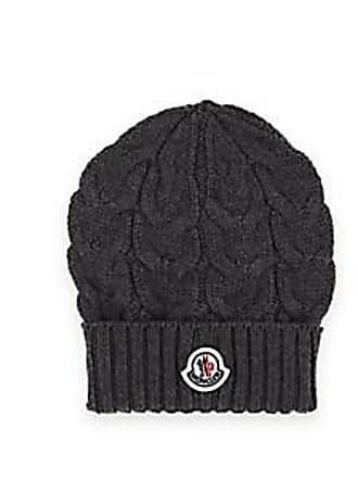 Moncler Kids Cable-Stitch Wool Beanie - Charcoal Size 8 10 YRS 84ffe78738b7