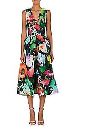 4db5b753ab Monique Lhuillier Womens Floral Gazar Fit   Flare Cocktail Dress Size 2