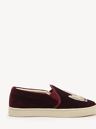 Soludos Womens Velvet Llama Sneakers Slip On Sangria Size 9.5 From Sole Society
