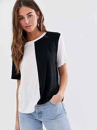 Jacqueline de Yong colourblock T-shirt-Black