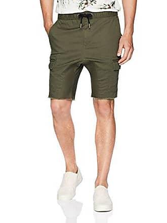 Zanerobe Mens Signature Stretch Fabric Cargo Sureshot Short, Military, 32