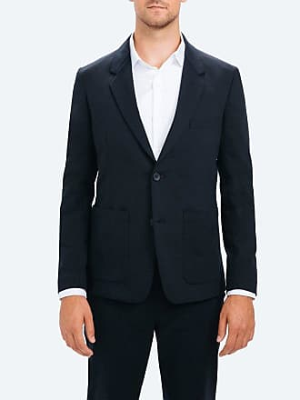Ministry of Supply Mens Navy Stretchy Wrinkle Free and Water Repellent Kinetic Blazer XXL