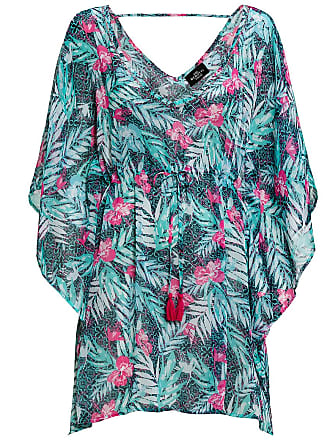 b65cd4e87484f5 Gina Benotti Damen Tunika im Hawaii-Look, türkis / pink, Gr. 48
