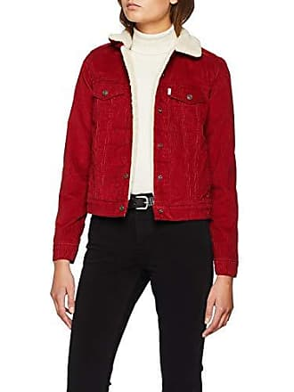 sale retailer b99b7 423b0 Levi s Original Sherpa Trucker, Veste en Jean Femme, Rouge (Authentic Red  Dahlia 0022