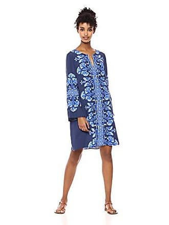 0159004f02 Lilly Pulitzer Womens Harlow Tunic, Bright Navy Twice as Nice Engineered  Dress, M