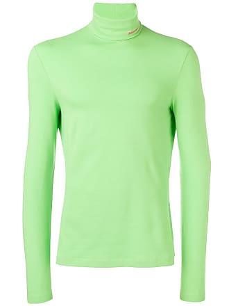 CALVIN KLEIN 205W39NYC logo embroidered turtleneck sweater - Green 6689c3ff0