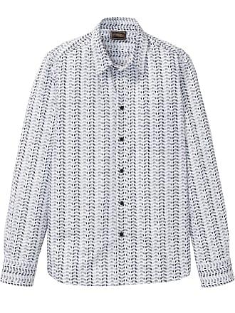 e179a126fe Bonprix Camicia fantasia a manica lunga slim fit (Bianco) - bpc selection