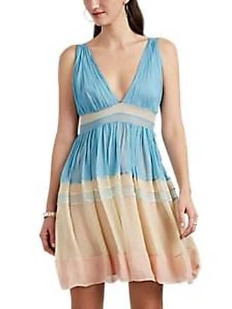 915d632a7b86ce Alberta Ferretti Womens Silk Chiffon Tiered Minidress - Blue Pat. Size 40 IT