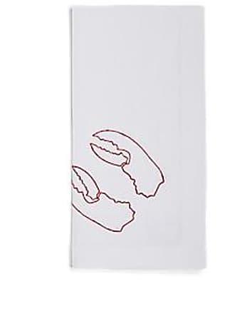 Barneys New York Embroidered Linen Napkin - White