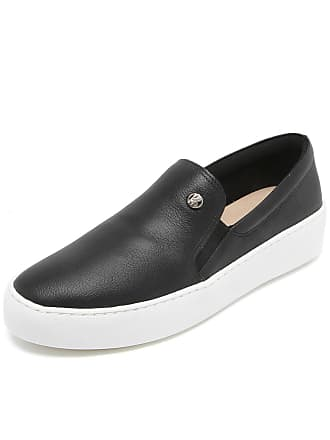 Bottero Slip On Couro Bottero Liso Preto