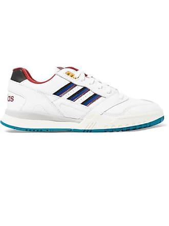 ffdc7ec033b3f adidas Originals A.r. Trainer Sneakers Aus Leder Mit Ripsbandbesatz - Weiß