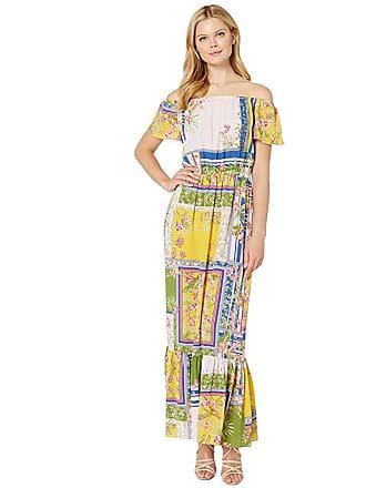 ccf3971ffdd5 Donna Morgan Mixed Print Off the Shoulder Crepe Maxi Dress (Pale Pink/Olive  Multi