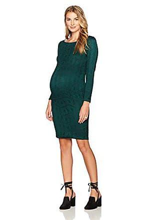 6bf0fbcc3bcb7 Ingrid & Isabel Womens Maternity Boatneck Lace Dress, Evergreen, Extra Small