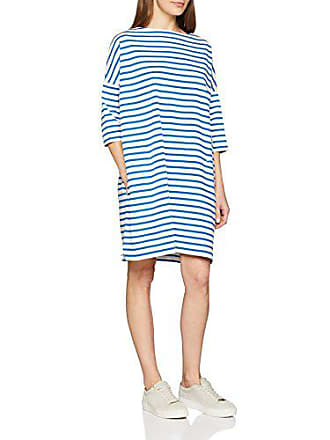 9c58a16b986 Petit Bateau Robe Robe Femme Blanc (Marshmallow Perse) Large (Taille  Fabricant