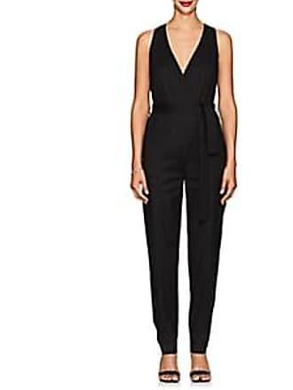 A.L.C. Womens Spencer Linen-Blend Belted Jumpsuit - Black Size 0
