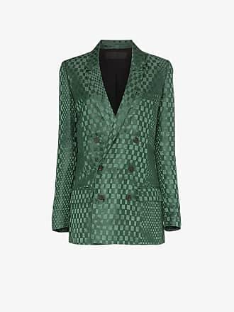 Haider Ackermann double-breasted checked silk-blend blazer